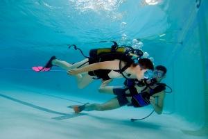 Programme d'initiation à la plongée sub aquatique de 9 enfants qui présentent un TED SDI juin 2010